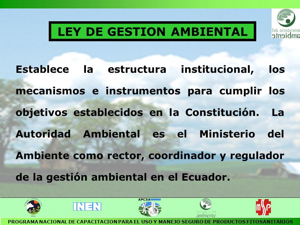 LEY DE GESTION AMBIENTAL