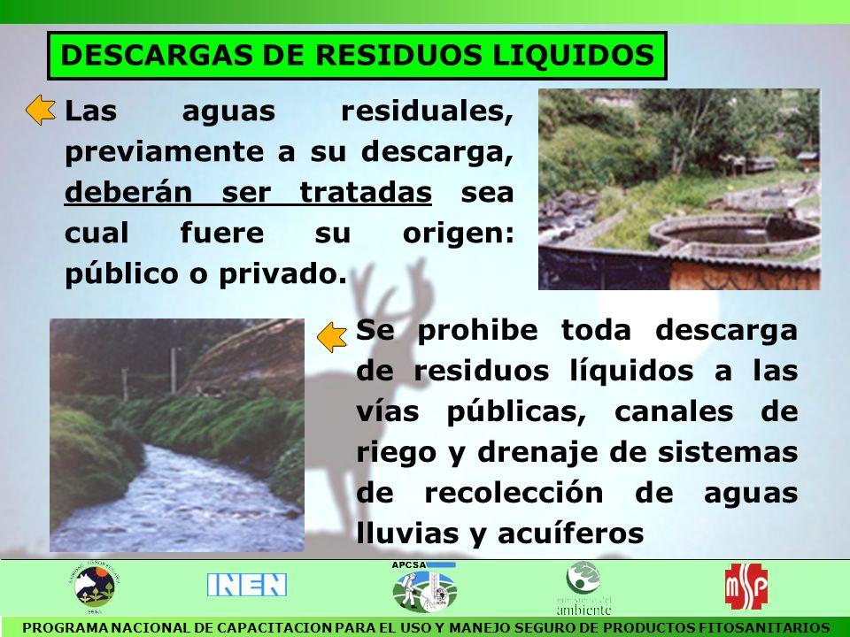 DESCARGAS DE RESIDUOS LIQUIDOS