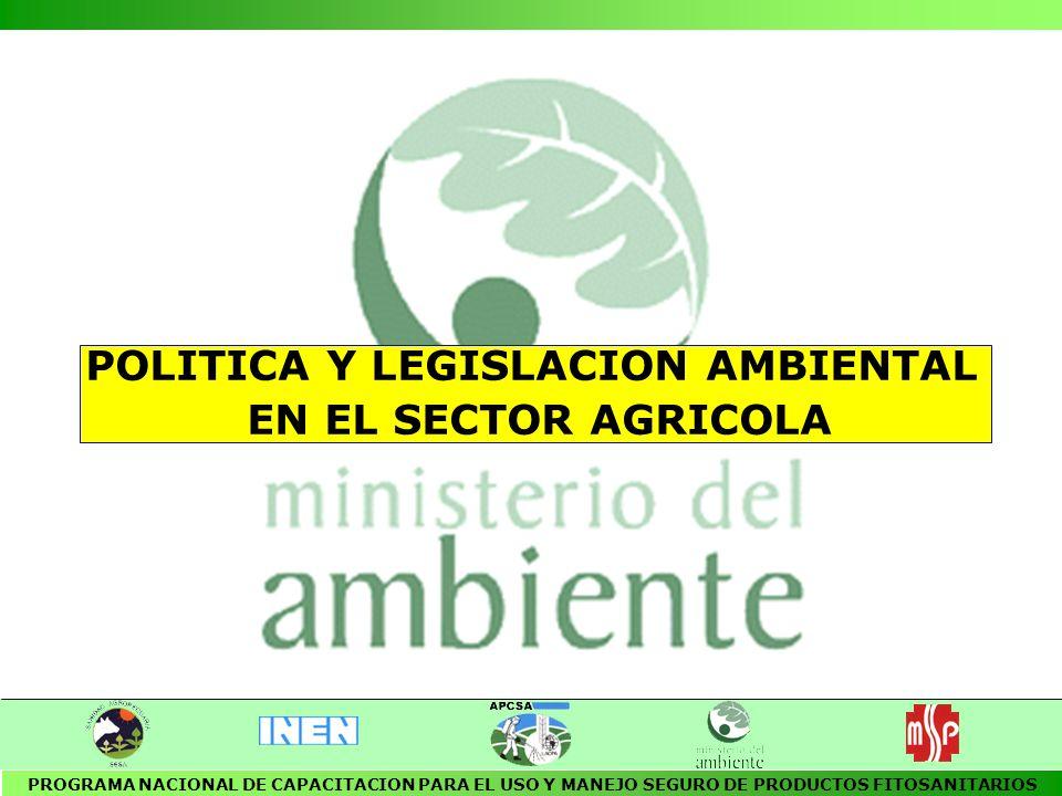 POLITICA Y LEGISLACION AMBIENTAL