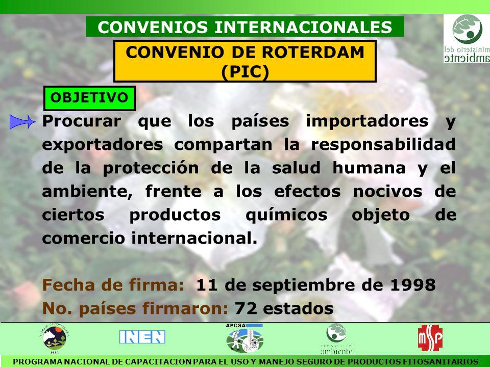 CONVENIOS INTERNACIONALES CONVENIO DE ROTERDAM (PIC)