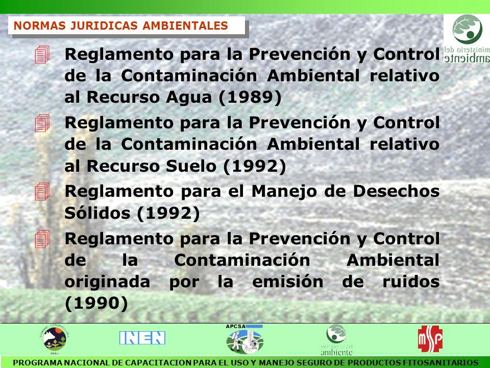 Reglamento para el Manejo de Desechos Sólidos (1992)