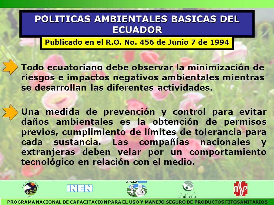 POLITICAS AMBIENTALES BASICAS DEL ECUADOR