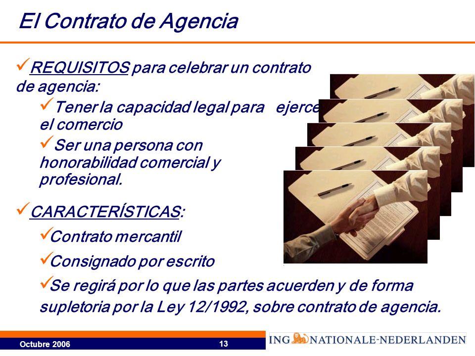 El Contrato de Agencia REQUISITOS para celebrar un contrato de agencia: Tener la capacidad legal para ejercer el comercio.