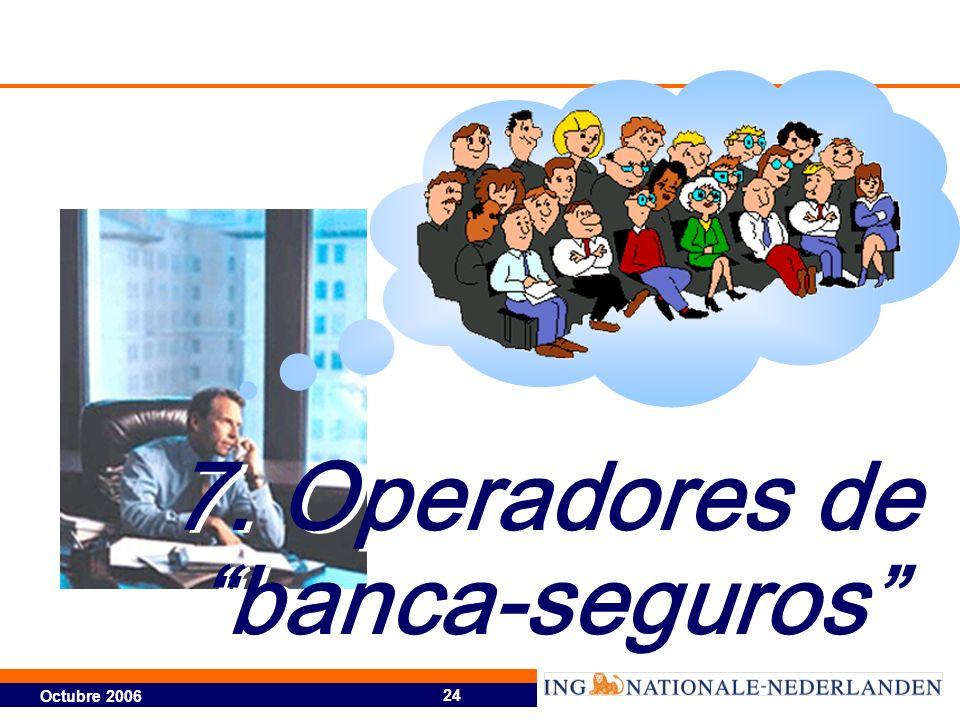 7. Operadores de banca-seguros