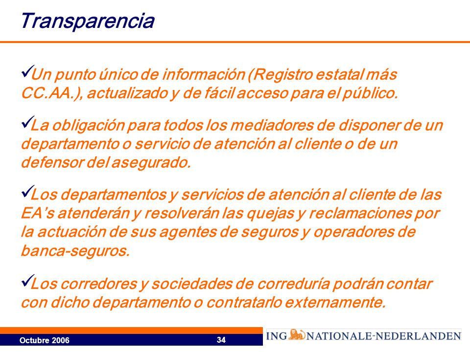 Transparencia Un punto único de información (Registro estatal más CC.AA.), actualizado y de fácil acceso para el público.