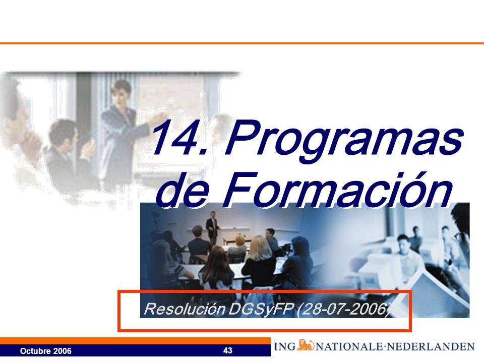 14. Programas de Formación