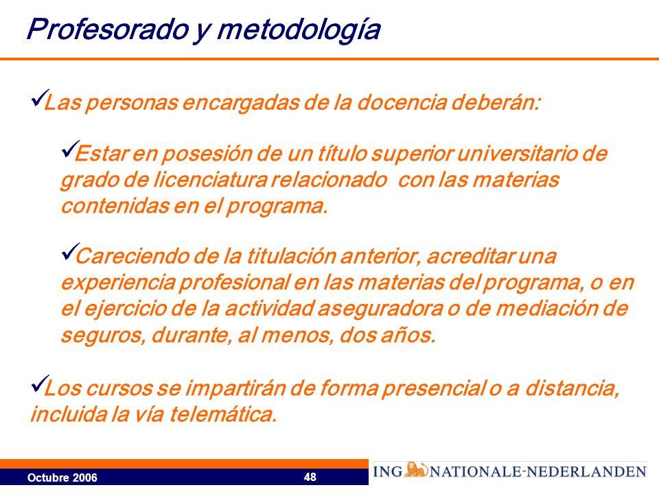 Profesorado y metodología