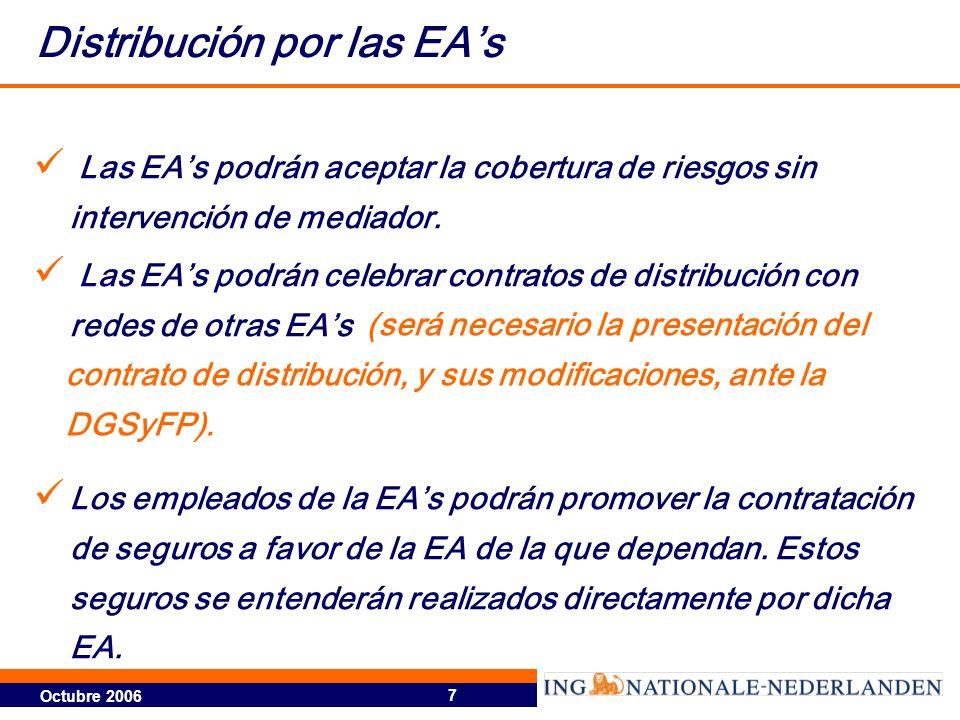 Distribución por las EA's