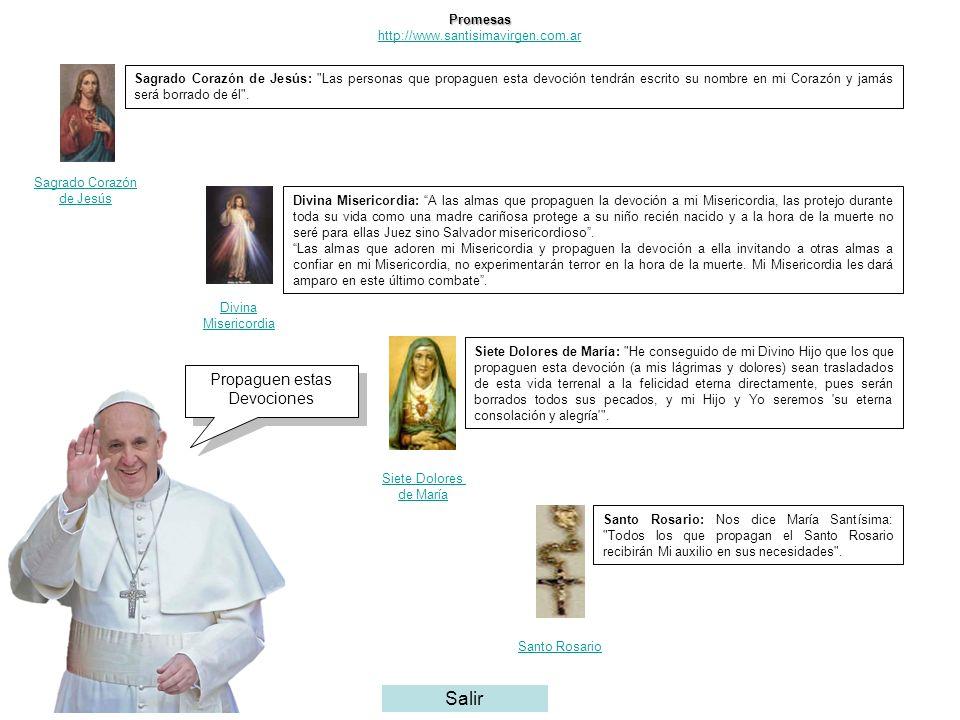 Promesas http://www.santisimavirgen.com.ar