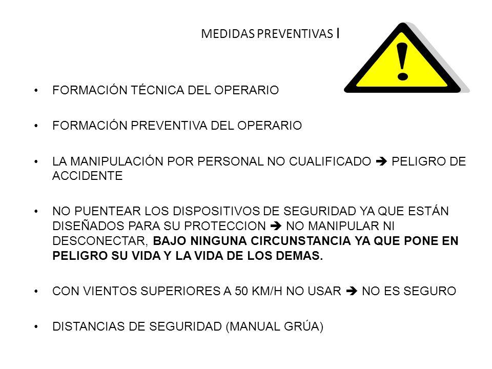 MEDIDAS PREVENTIVAS I FORMACIÓN TÉCNICA DEL OPERARIO