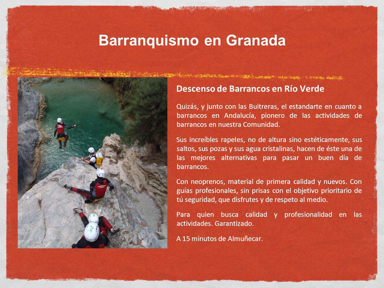Barranquismo en Granada