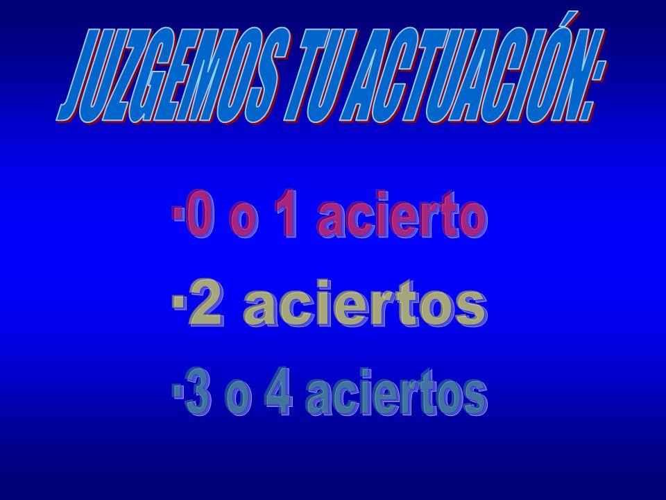 JUZGEMOS TU ACTUACIÓN: