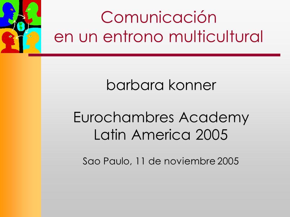 Comunicación en un entrono multicultural