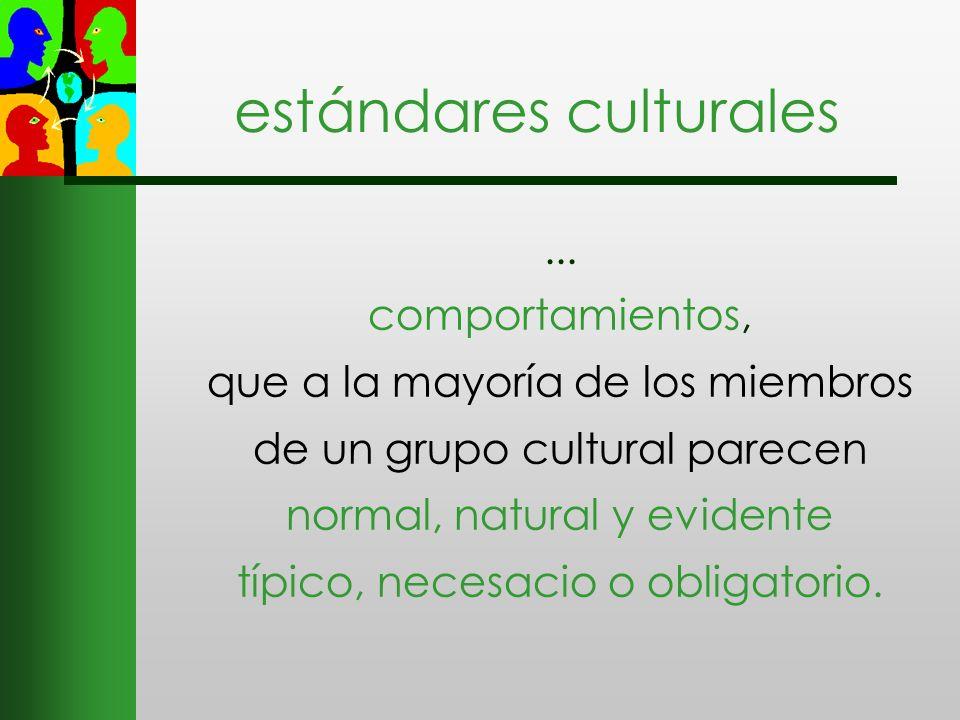 estándares culturales