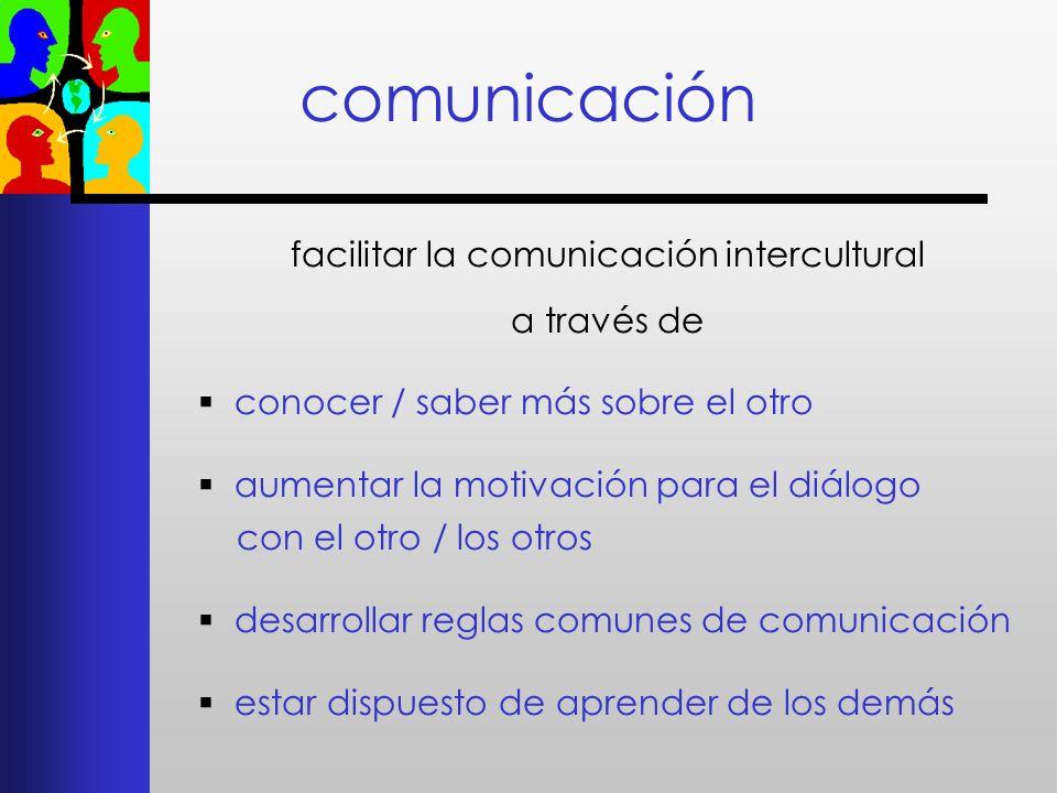 facilitar la comunicación intercultural