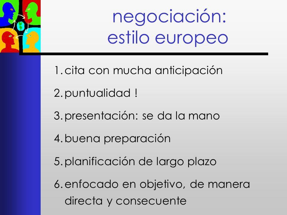 negociación: estilo europeo