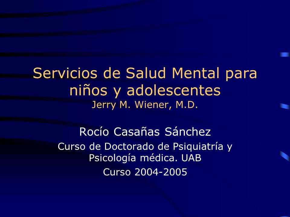 Curso de Doctorado de Psiquiatría y Psicología médica. UAB