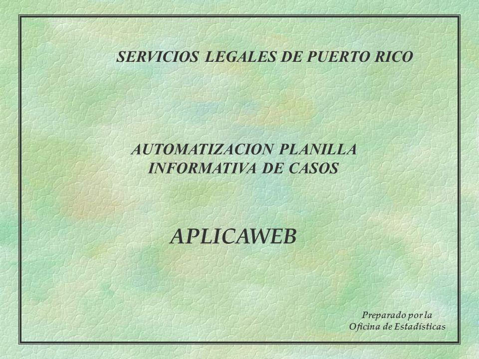 APLICAWEB SERVICIOS LEGALES DE PUERTO RICO