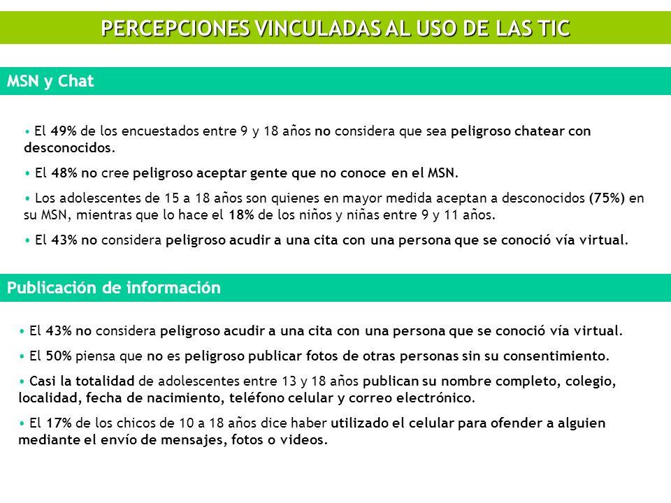 PERCEPCIONES VINCULADAS AL USO DE LAS TIC