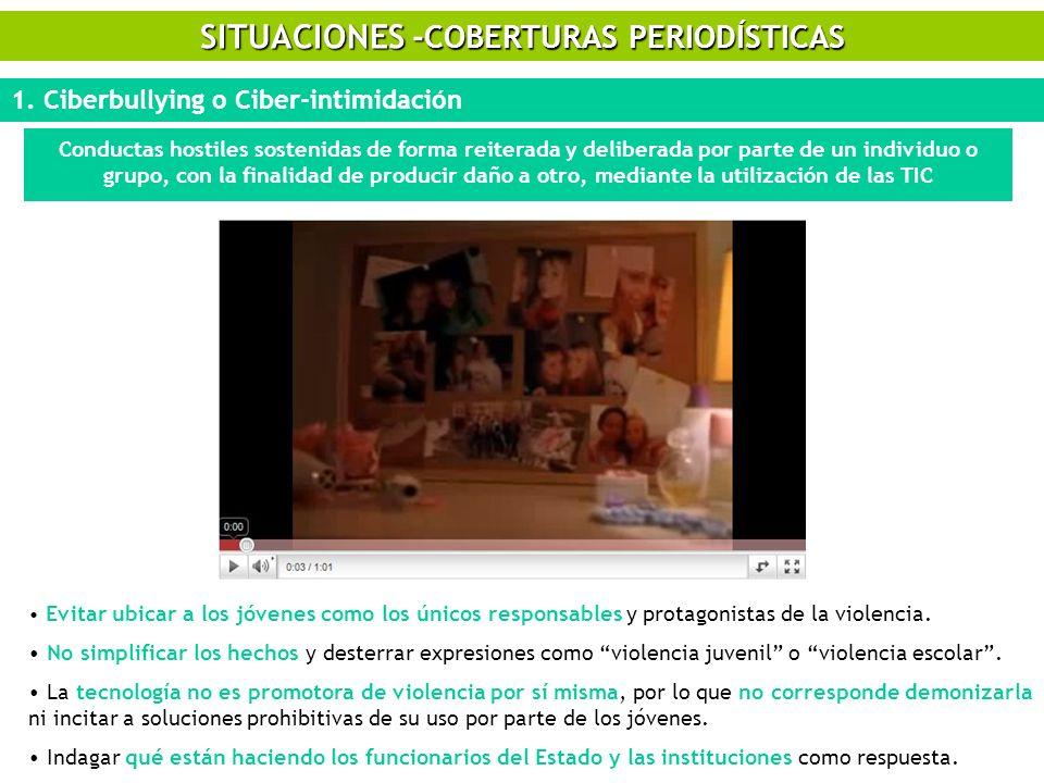 SITUACIONES -COBERTURAS PERIODÍSTICAS