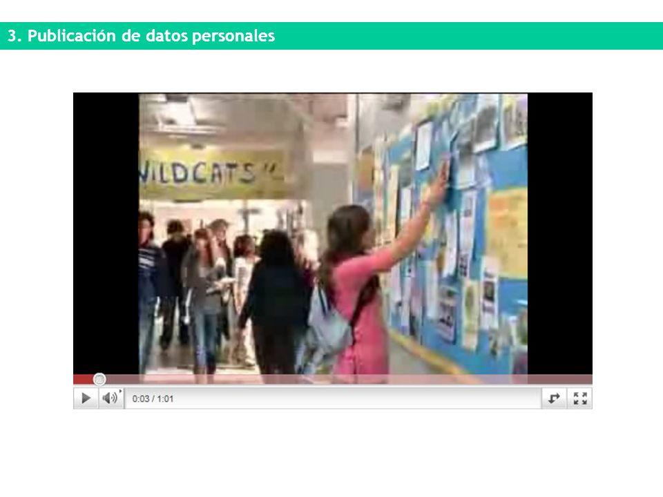 3. Publicación de datos personales