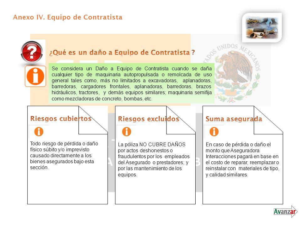 Anexo IV. Equipo de Contratista