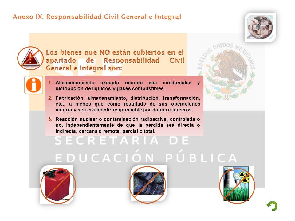 Anexo IX. Responsabilidad Civil General e Integral