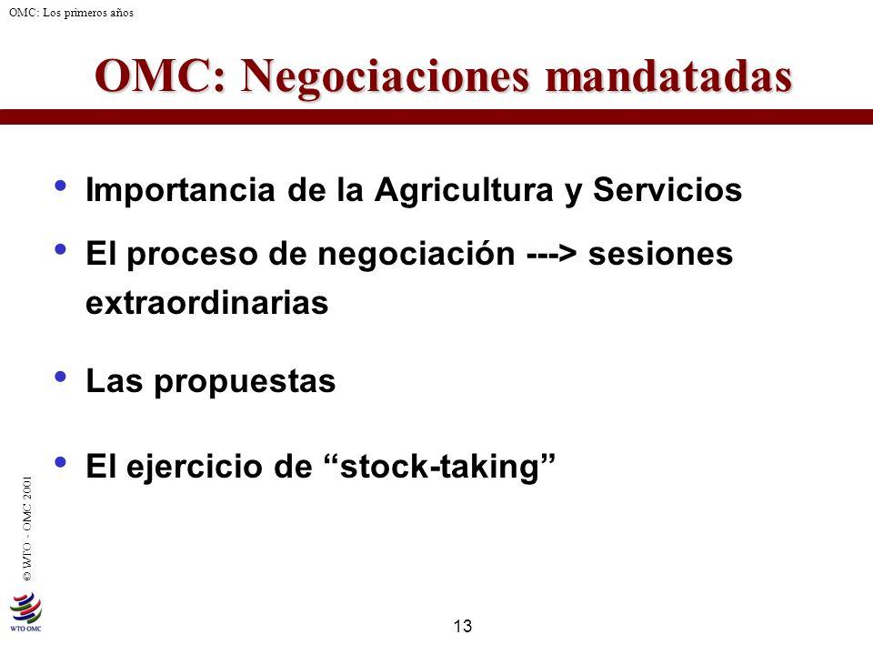 OMC: Negociaciones mandatadas