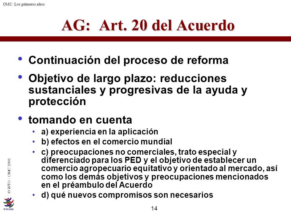 AG: Art. 20 del Acuerdo Continuación del proceso de reforma