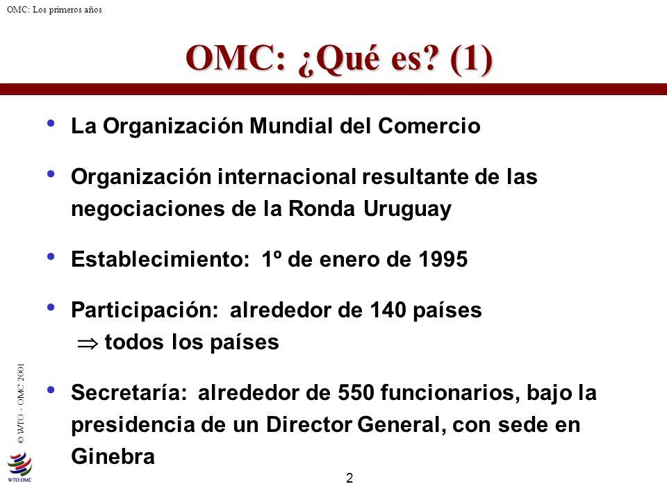 OMC: ¿Qué es (1) La Organización Mundial del Comercio