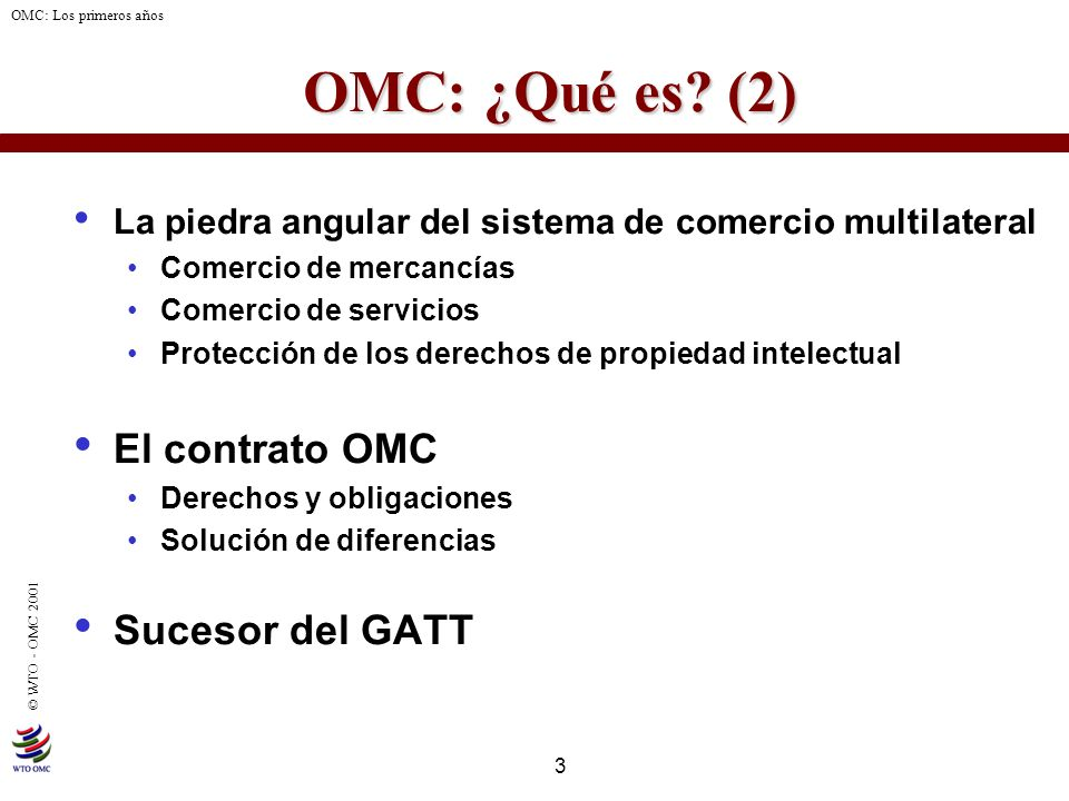 OMC: ¿Qué es (2) El contrato OMC Sucesor del GATT