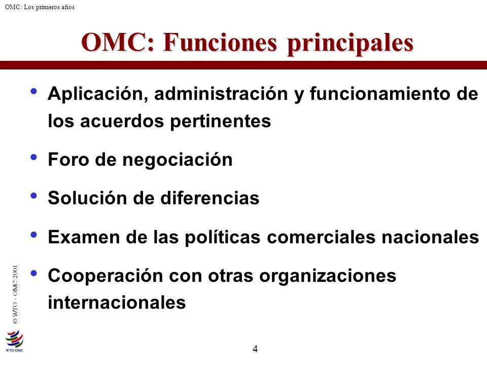 OMC: Funciones principales