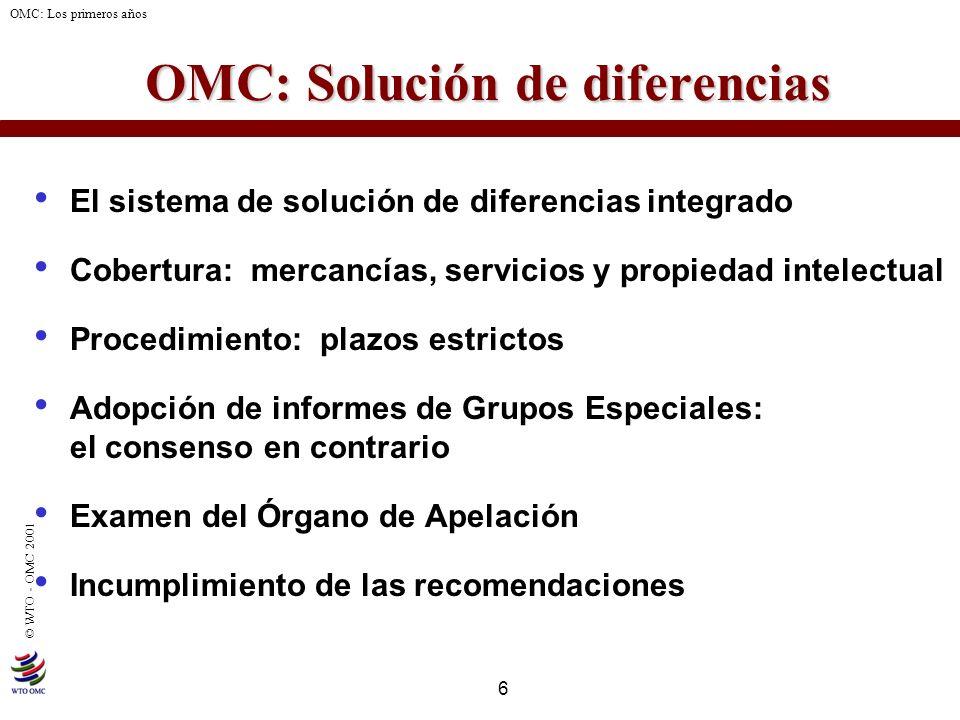 OMC: Solución de diferencias