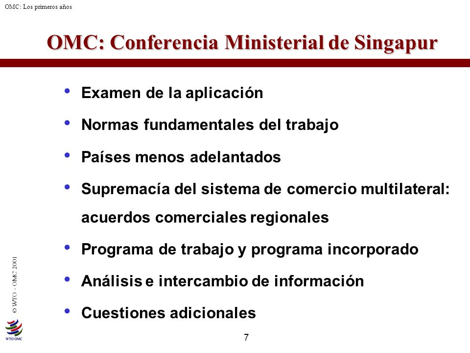 OMC: Conferencia Ministerial de Singapur
