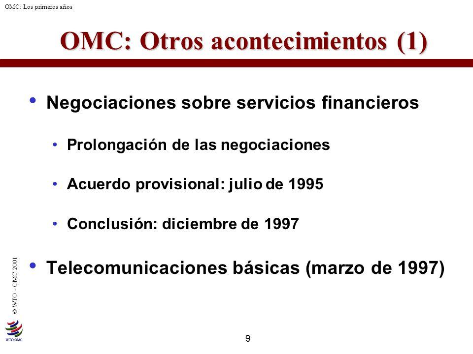 OMC: Otros acontecimientos (1)