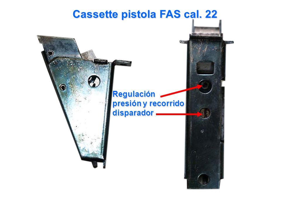Cassette pistola FAS cal. 22