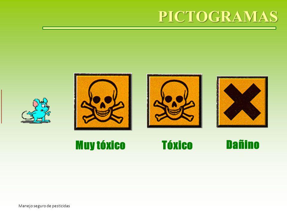 PICTOGRAMAS Muy tóxico Tóxico Dañino Manejo seguro de pesticidas