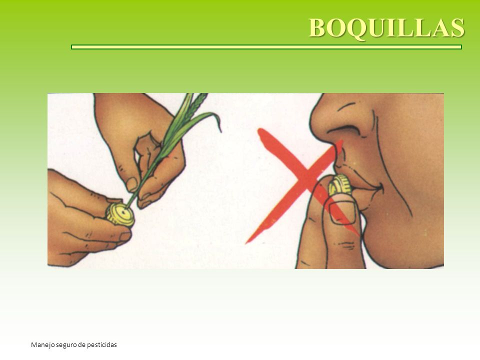 BOQUILLAS Manejo seguro de pesticidas