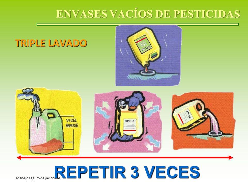 ENVASES VACÍOS DE PESTICIDAS