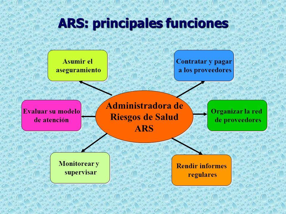 ARS: principales funciones