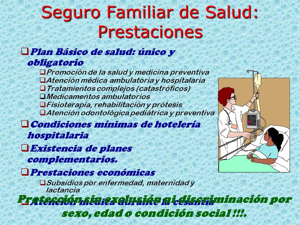 Seguro Familiar de Salud: Prestaciones