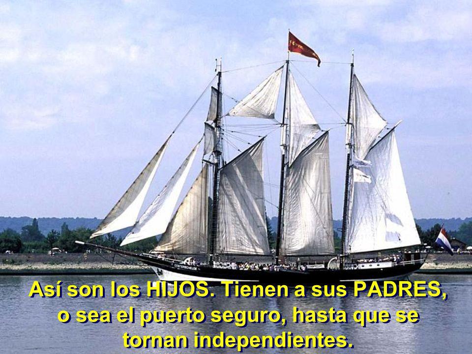 Así son los HIJOS. Tienen a sus PADRES, o sea el puerto seguro, hasta que se tornan independientes.