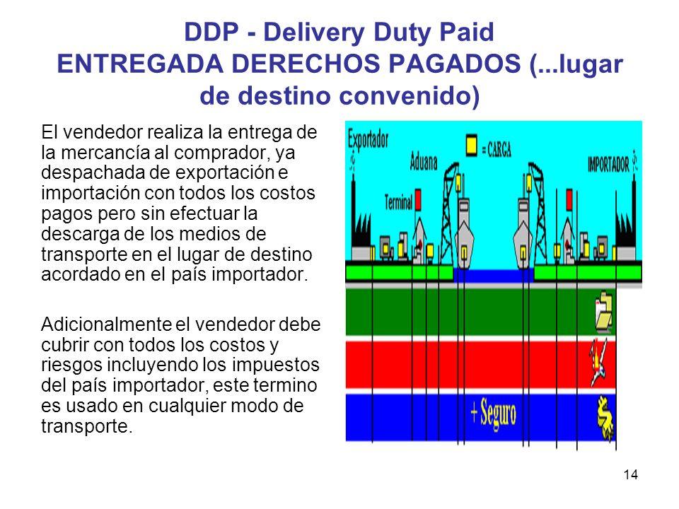 DDP - Delivery Duty Paid ENTREGADA DERECHOS PAGADOS (