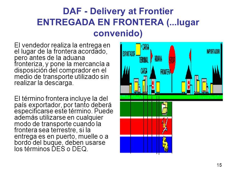 DAF - Delivery at Frontier ENTREGADA EN FRONTERA (...lugar convenido)