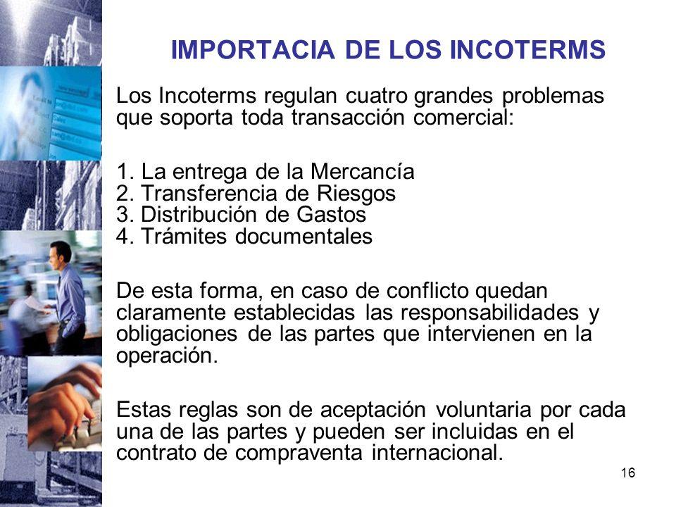IMPORTACIA DE LOS INCOTERMS