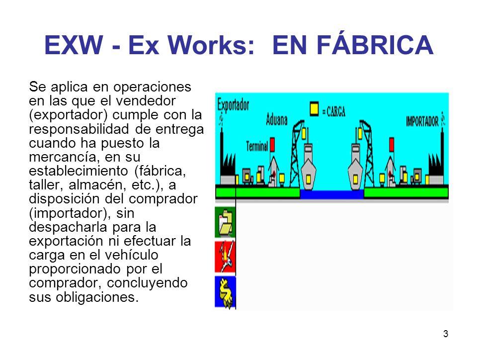 EXW - Ex Works: EN FÁBRICA