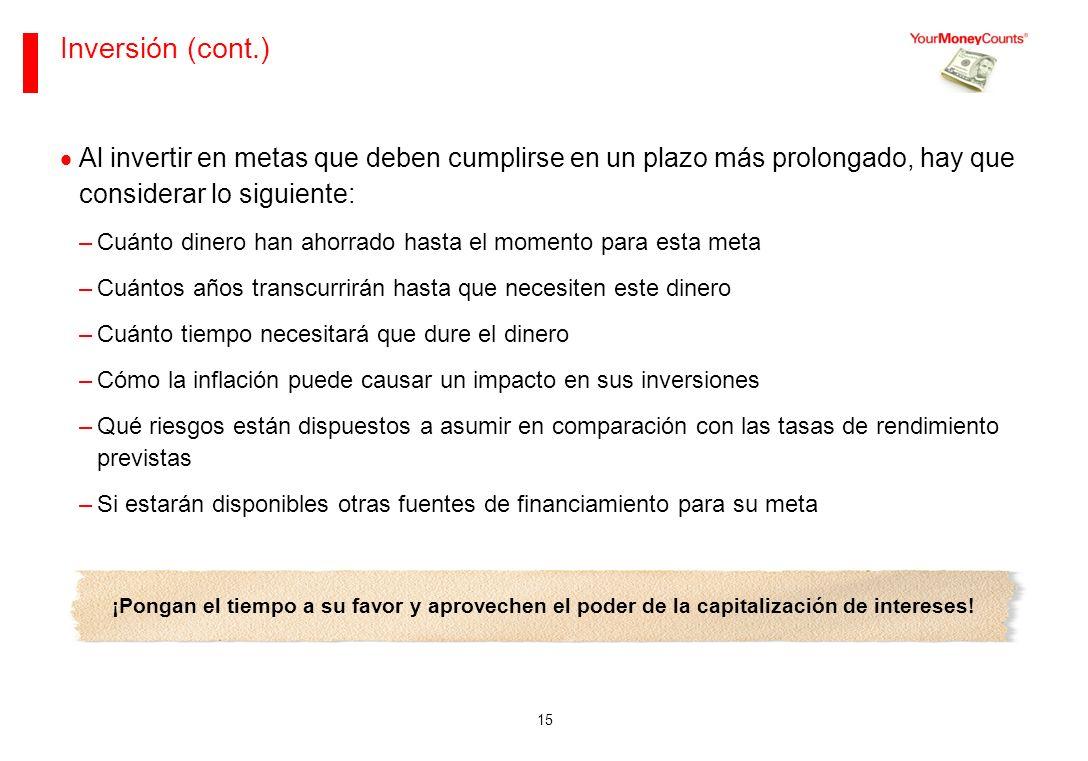 Sus bases financieras Junio de 2013. Inversión (cont.)