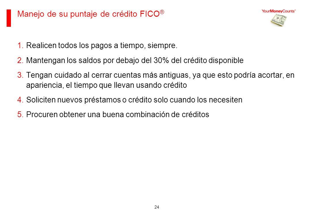 Manejo de su puntaje de crédito FICO®