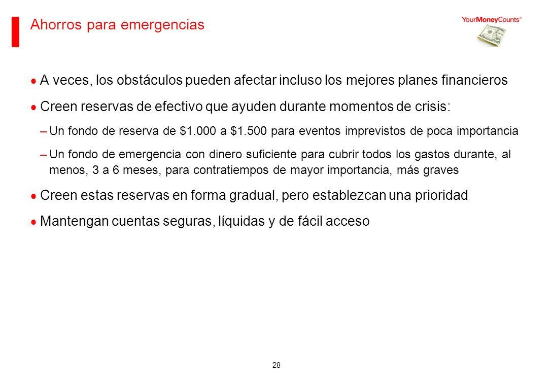 Ahorros para emergencias