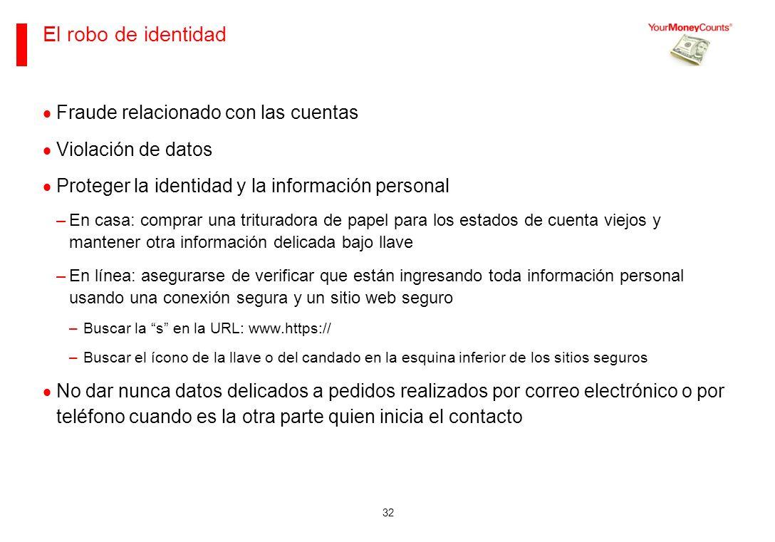 El robo de identidad Fraude relacionado con las cuentas